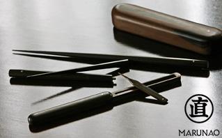 マルナオ 黒檀極上携帯箸&携帯爪楊枝